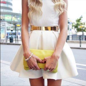Aqua Floyd dress in white